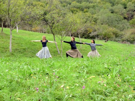 Yoga in Skirts in the hills of Romania