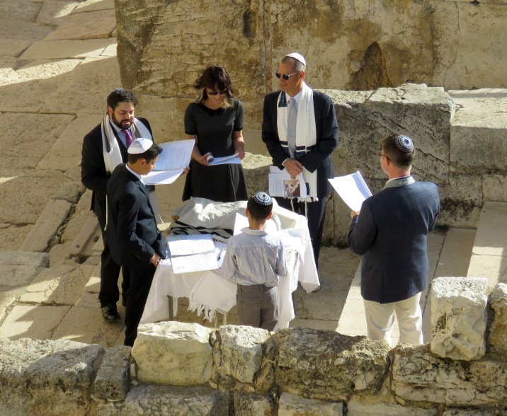 A bar mitzvah taking place in Old City Jerusalem - by Anika Mikkelson - Miss Maps - www.MissMaps.com