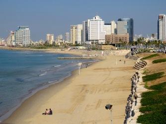 Beach at Old Jaffa, Tel Aviv Israel - by Anika Mikkelson - Miss Maps - www.MissMaps.com