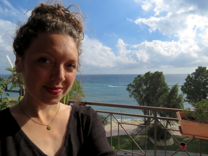 Because a selfie with the Sea is a definite must - Limassol Cyprus - by Anika Mikkelson - Miss Maps - www.MissMaps.com