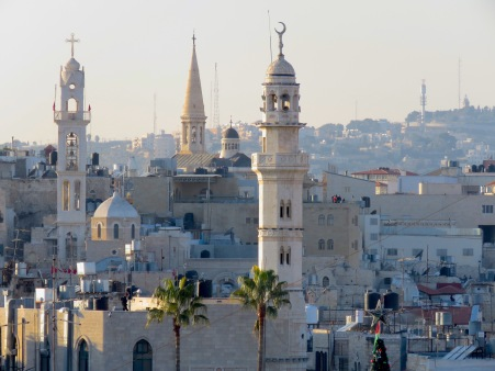 Bethlehem's Skyline on Christmas Eve - by Anika Mikkelson - Miss Maps - www.MissMaps.com