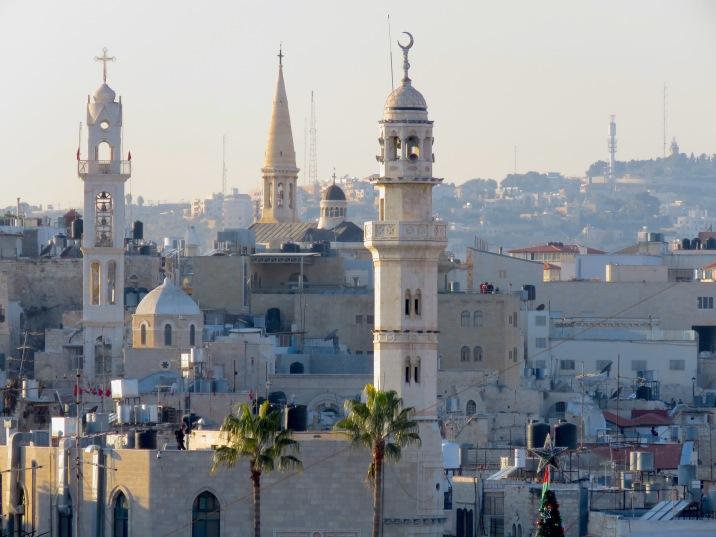 Bethlehem's Skyline on Christmas Eve - by Anika Mikkelson - Miss Maps - www.MissMaps.com