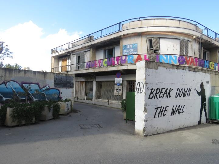 Break down the wall in Nicosia Cyprus - by Anika Mikkelson - Miss Maps - www.MissMaps.com
