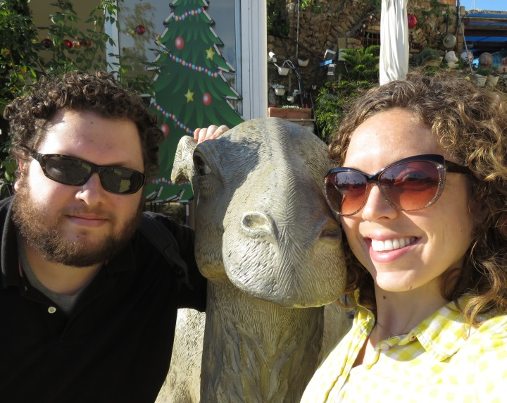 Brother Sister Camel Selfie - Tel Aviv Israel - Anika Mikkelson - Miss Maps - www.MissMaps.com