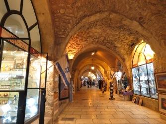 Cavernous streets of Old City Jerusalem's Jewish Quarter - by Anika Mikkelson - Miss Maps - www.MissMaps.com