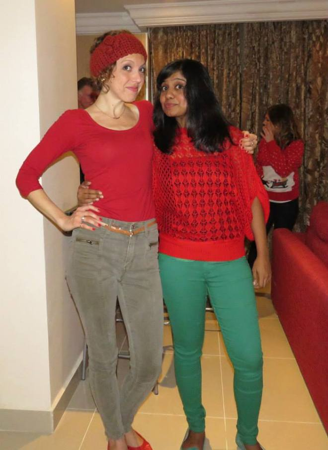 Celebrating Christmas in Kuwait 2014 - Naseema and Anika - www.MissMaps.com