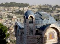 Church of Saint Peter in Gallicantu on Mount Zion Jerusalem Israel - by Anika Mikkelson - Miss Maps - www.MissMaps.com