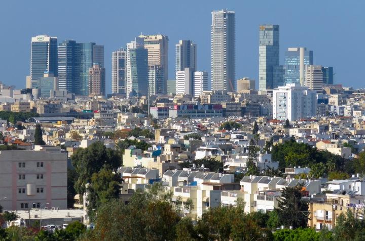 Downtown Tel Aviv from our balcony - Tel Aviv, Israel - by Anika Mikkelson - Miss Maps - www.MissMaps.com