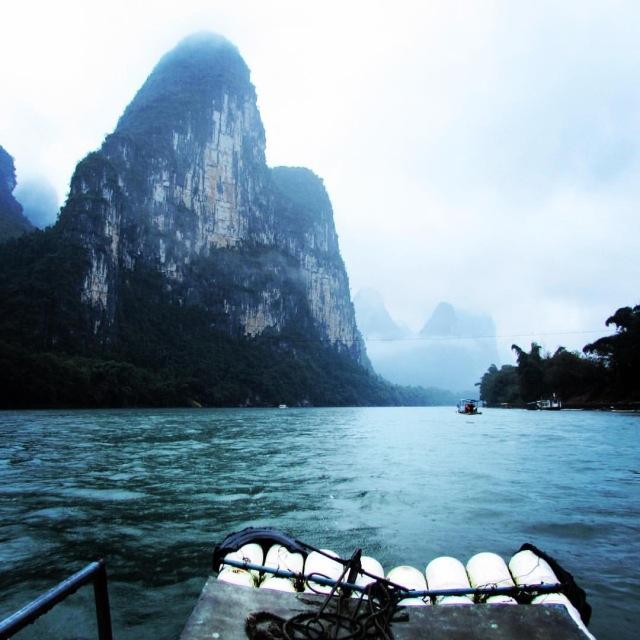 Floating down the Li River in Yangshuo - by Mikayla Timothy - www.MissMaps.com