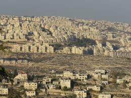 Har Homa as seen from Bethlehem - by Anika Mikkelson - Miss Maps - www.MissMaps.com