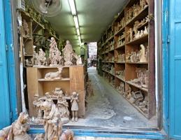 Inside of an Olive Wood Workshop - Bethlehem - by Anika Mikkelson - Miss Maps - www.MissMaps.com