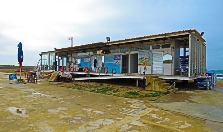 Lighthouse Beach Snackbar in Paphos, Cyprus - by Anika Mikkelson - Miss Maps - www.MissMaps.com