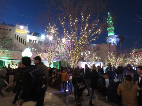 Manger Square in Bethlehem Comes Alive on Christmas Eve - by Anika Mikkelson - Miss Maps - www.MissMaps.com