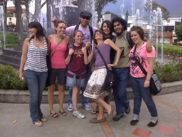 Meeting in Merida, Venezuela in Summer 2008 - Mikayla and Anika both in pink - www.MissMaps.com