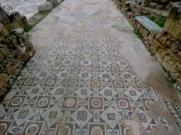 Mosaics near Saint Paul's Pillar in Paphos, Cyprus - by Anika Mikkelson - Miss Maps - www.MissMaps.com
