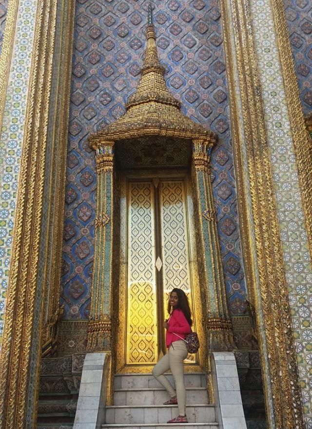 Naseema Khan at Bangkok's Golden Temple - www.MissMaps.com
