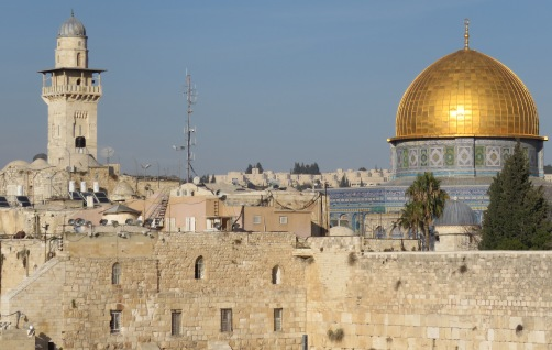Old City Jerusalem and the Dome of the Rock - by Anika Mikkelson - Miss Maps - www.MissMaps.com
