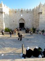 Outside Jerusalem's Demascus Gate - by Anika Mikkelson - Miss Maps - www.MissMaps.com
