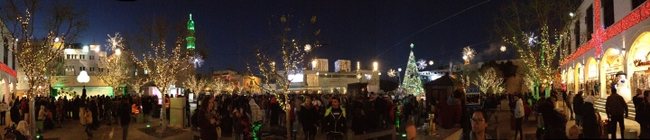 Panoramic of Manger Square, Bethlehem on Christmas Eve 2015 - Miss Maps - www.MissMaps.com