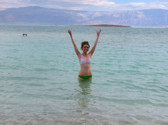 Pop ups in the Dead Sea - Look at that height! - Anika Mikkelson - Miss Maps - www.MissMaps.com