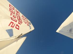 Sails from below - - by Anika Mikkelson - Miss Maps - www.MissMaps.com