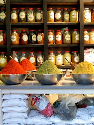 Spice Racks to the Max at Mahane Yehuda Market in Jerusalem - by Anika Mikkelson - Miss Maps - www.MissMaps.com