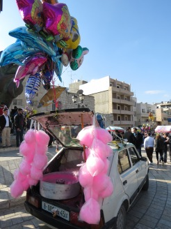 The Cotton Candy Car - Bethlehem Christmas - by Anika Mikkelson - Miss Maps - www.MissMaps.com