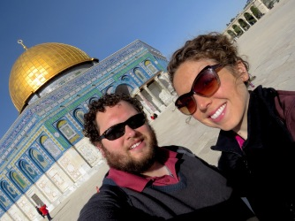 There we go! At Jerusalem's Temple Mount on a beautiful day - Selfie by Anika Mikkelson - Miss Maps - www.MissMaps.com