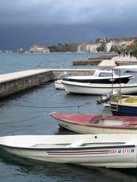 Boats in Kotor Bay Montenegro - by Anika Mikkelson - Miss Maps - www.MissMaps.com