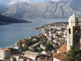 Church Steeple on the way to Kotor Fortress - Montenegro - by Anika Mikkelson - Miss Maps - www.MissMaps.com