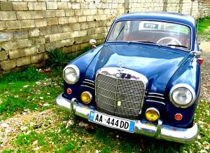 Classic Mercedes in Tirana Albania - by Anika Mikkelson - Miss Maps - www.MissMaps.com