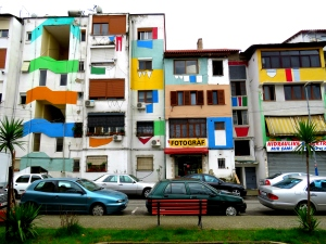 Colorful Apartments of Downtown Tirana Albania - by Anika Mikkelson - Miss Maps - www.MissMaps.com
