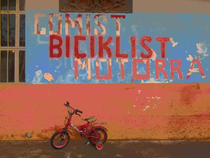 Comist Biciklist Motorra - Shkoder Albania - by Anika Mikkelson - Miss Maps - www.MissMaps.com