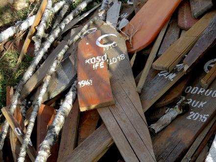 Discarded Grave Markers - Sarajevo, Bosnia and Herzegovina BiH - by Anika Mikkelson - Miss Maps - www.MissMaps.com