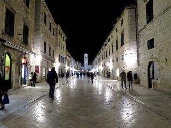 Gundulic Square at Night - Dubrovnik, Croatia - by Anika Mikkelson - Miss Maps - www.MissMaps.com