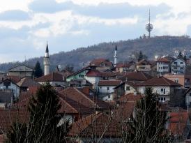 Hillside homes and mosques - Sarajevo, Bosnia and Herzegovina BiH - by Anika Mikkelson - Miss Maps - www.MissMaps.com