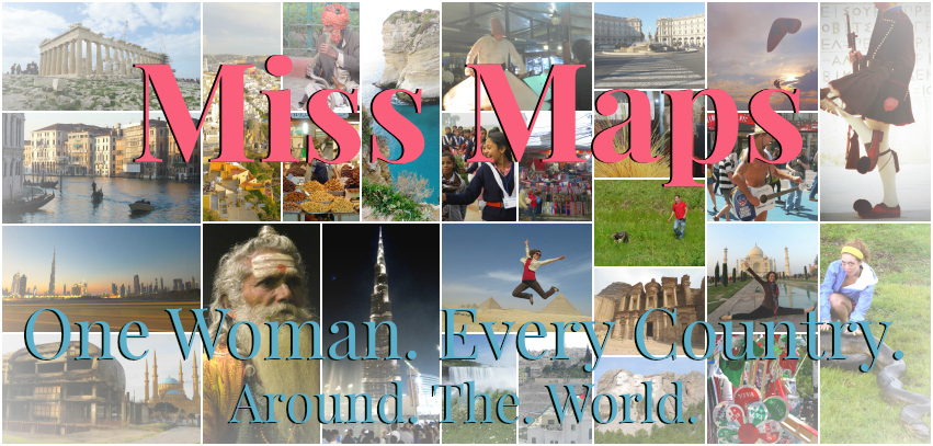 Miss Maps RTW - One Woman. Every Country. Around the World. Anika Mikkelson www.MissMaps.com Minnesota USA America