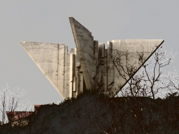 Mountaintop Monument to Yugoslavian Airforces - Ulcinj Montenegro - by Anika Mikkelson - Miss Maps - www.MissMaps.com