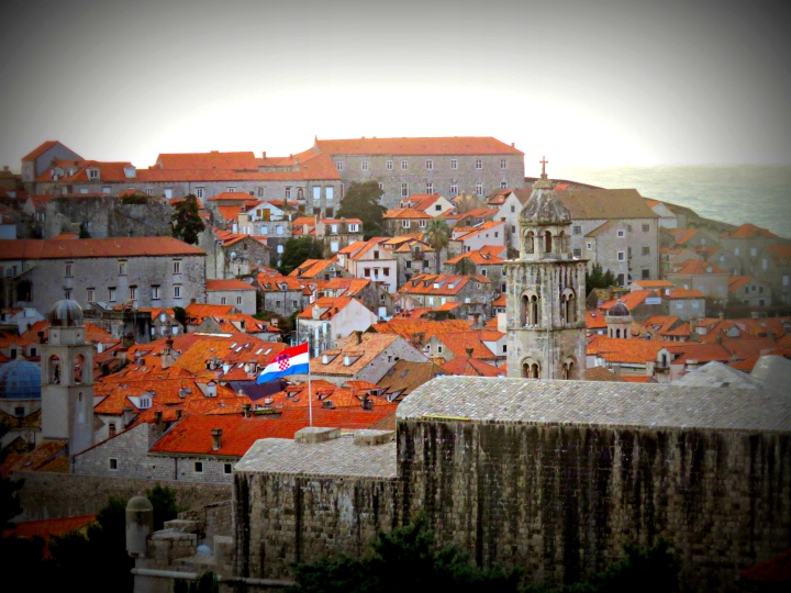 Old Town Dubrovnik Croatia from Above - by Anika Mikkelson - Miss Maps - www.MissMaps.com