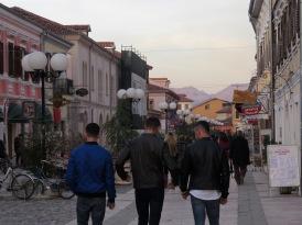 Pjaca Kol Idromeno Pedestrian Street - Shkoder Albania - by Anika Mikkelson - Miss Maps - www.MissMaps.com