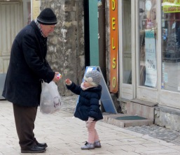 Play Time with Grandpa - Sarajevo, Bosnia and Herzegovina - BiH - by Anika Mikkelson - Miss Maps - www.MissMaps.com
