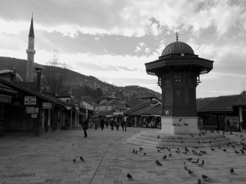Sebilj Fountain, Bascarsilja- Saravejo, Bosnia and Herzegovina BiH - by Anika Mikkelson - Miss Maps - www.MissMaps.com
