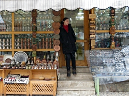 Selling Trinkets in the Snow - Sarajevo, Bosnia and Herzegovina - BiH - by Anika Mikkelson - Miss Maps - www.MissMaps.com