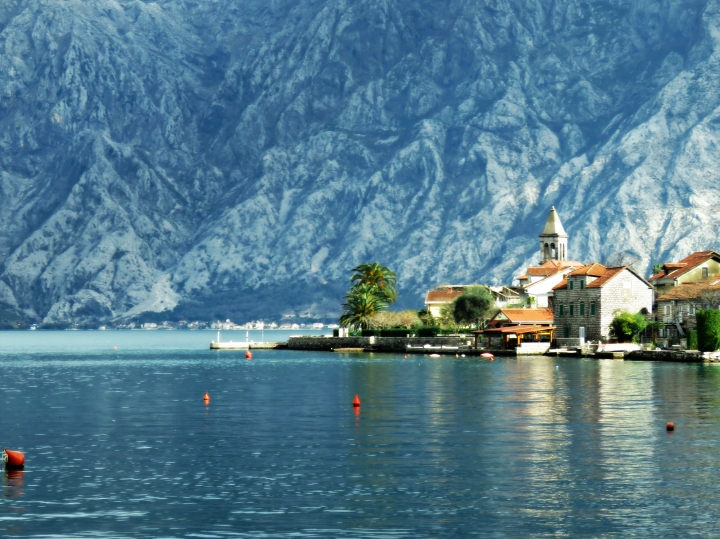 Small Village on the bay Near Kotor Montenegro - by Anika Mikkelson - Miss Maps - www.MissMaps.com