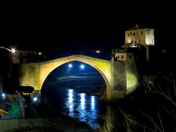 Stari Most at night - Mostar, Bosnia and Herzegovina - by Anika Mikkelson - Miss Maps - www.MissMaps.com
