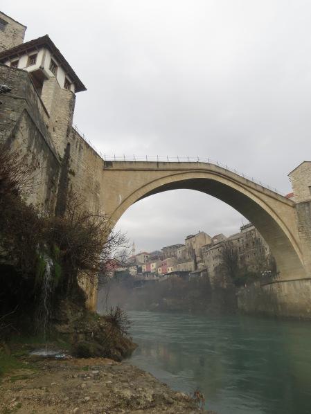Stari Most from Below - Mostar, Bosnia and Hercegovina - by Anika Mikkelson - Miss Maps - www.Missmaps.com
