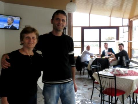 Tek Ruku Owner and her son - Shkoder Albania - by Anika Mikkelson - Miss Maps - www.MissMaps.com