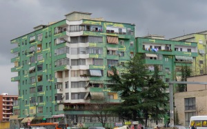 That Way! Colorful Apartments of Downtown Tirana Albania - by Anika Mikkelson - Miss Maps - www.MissMaps.com
