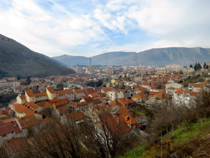 The City of Mostar from above - Bosnia and Hercegovina - by Anika Mikkelson - Miss Maps - www.MissMaps.com