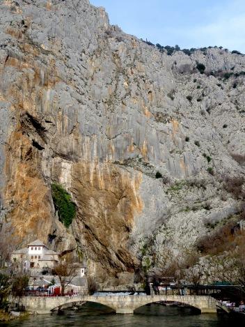 The cliffside Devish Tekke of Blagaj, near Mostar in Bosnia and Hercegovina - by Anika Mikkelson - Miss Maps - www.MissMaps.com
